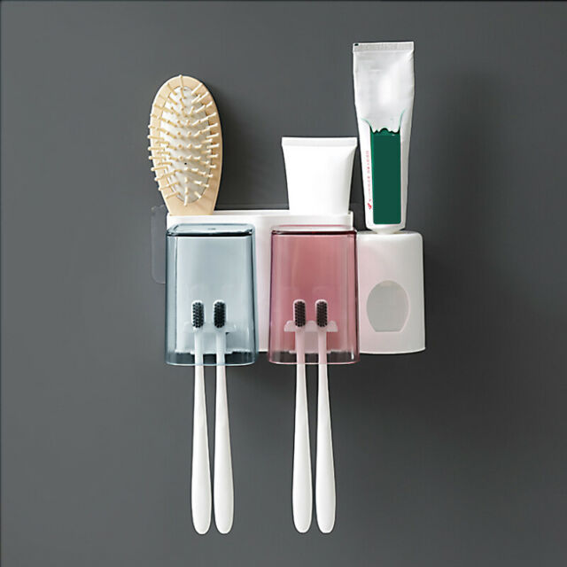 Creative Automatic Toothpaste Dispenser Squeezer and Holder Set BD6D 01
