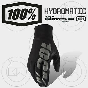 GUANTI-100-HYDROMATIC-WATERPROOF-MX-BLACK-ADULTO-MOTOCROSS-ENDURO-OFF-ROAD-MTB