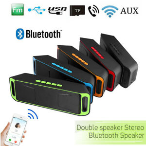 Portable Bluetooth Enceinte Haut-parleur Sans Fil Stéréo USB AUX FM MP3 TF