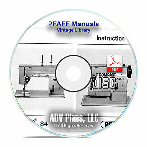vintage pfaff sewing machine instruction books service manuals 100 model cd f11 ebay