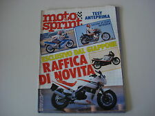 MOTOSPRINT 8/1987 SUZUKI VS 1400 INTRUDER/GSX 400 R/BETA KR 50