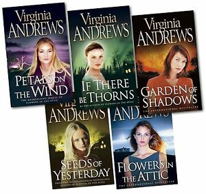 Flowers-in-the-Attic-Virginia-Andrews-5-Books-Set-Petal-on-the-Wind-Dollanger