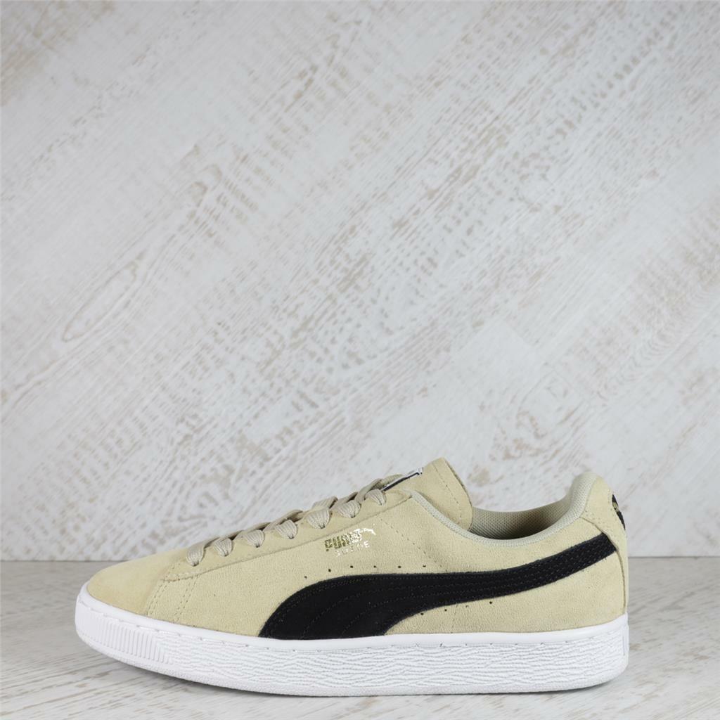 Chaussures Femme Puma Daim Classique Pebble/Noir Baskets (50C16) RRP 69.99