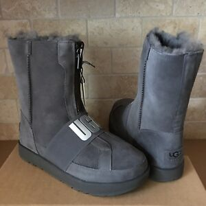 7be1c7093f1 Details about UGG CONNESS WATERPROOF CHARCOAL GREY SUEDE LEATHER ZIP SHORT  BOOT SIZE 7.5 WOMEN