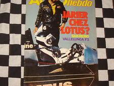auto hebdo n°134 1978 / GRAND PRIX CANADA / RALLYE SAN REMO / NURBURGRING GR.5