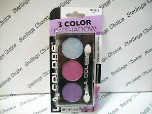 LA Colors 3 Color Eyeshadow Palette #623 Iris