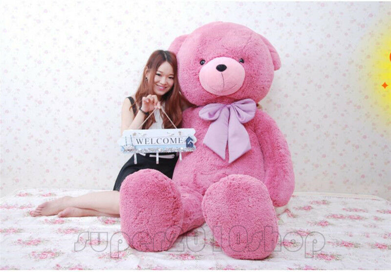 63'' Giant Huge Big Teddy Bear Red Plush Soft Toys Stuffed Doll Bithday Gift