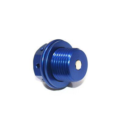 New ZETA anodized BLUE billet oil drain plug bolt magnetic Honda CR125 2002-2007