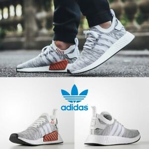 Adidas-Unisex-NMD-R2-Runner-White-White-Black-BY9410-Size-4-11