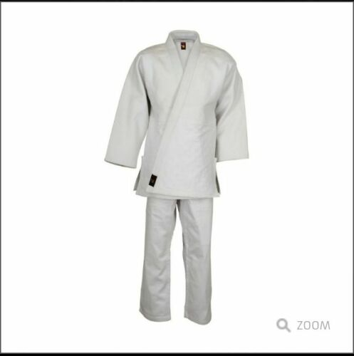 65//35 POLY COTTON WITH WHITE BELT KARATE UNIFORMS OSPREY INTL A BORN FIGHTER