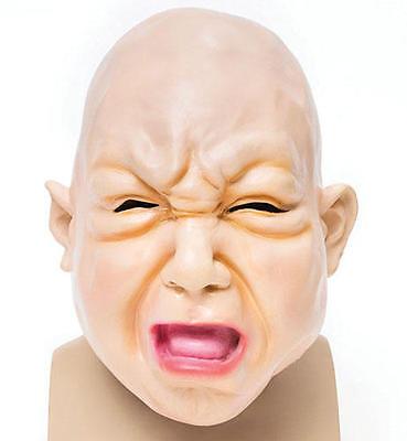 Fat Face Baby Rubber Mask Overhead Scary Halloween Fancy Dress Prop
