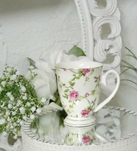 Kaffeebecher Kaffeetasse Pot Tasse Roses Goldrand  Shabby Nostalgie Vintage