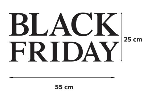 2 BLACK FRIDAY Sale Shop Window Sign Retail Decal Display Vinyl Stickers 55x25 1