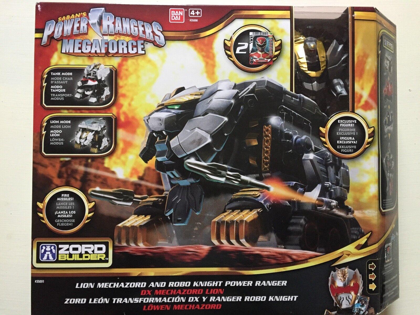 POWER RANGERS MEGAFORCE LION MACHAZORD AND ROBO KNIGHT POWER RANGER