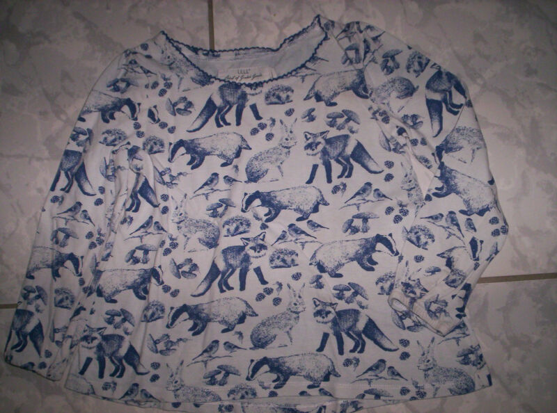 """h&m"" La-shirt, Grau-blau Mit Tiere, Neuw. Gr.110/116"