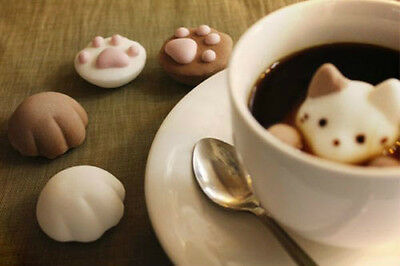 Marshmallow Cat cafe with cat pad banilla chocoalte taste gift Preorder cute #10