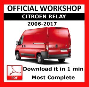 official workshop manual service repair citroen relay 2006 2017 rh ebay com citroen jumper 2008 service manual citroen jumper 2009 service manual