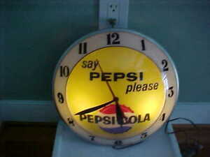 Pepsi Cola Double Bubble Clock -NO RESERVE