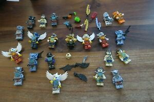 LEGO-LOT-DE-20-PERSONNAGES-FIGURINES-LEGO-CHIMA-ACCESSOIRES