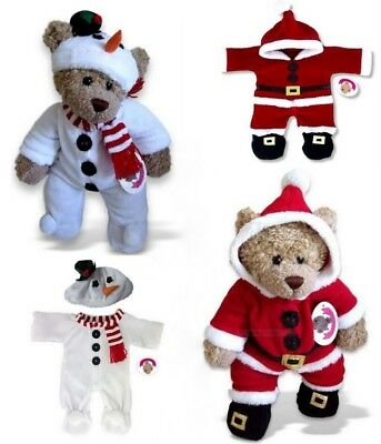 Teddy Bears Clothes fits Build a Bear Teddies Christmas Santa | Snowman Outfits