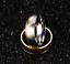 Coppia-Fedi-Fede-Fedine-Anello-Anelli-Fidanzamento-Nuziali-Cristallo-Oro-Acciaio miniatura 2
