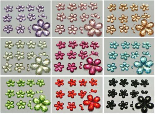 "3//8/"" Color For Choice 500 Acrylic Flatback Faceted Flower Rhinestone Gems 10mm"