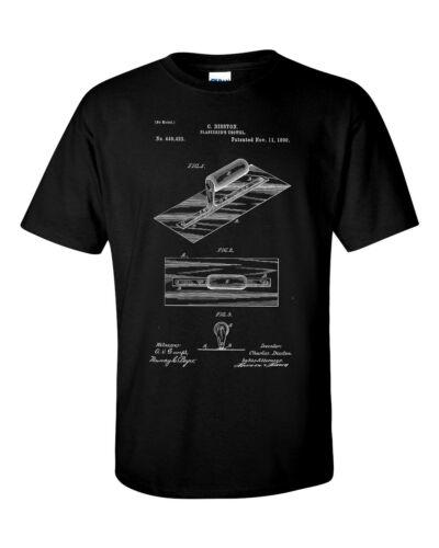 Plasterers Builders Drywall Trowel Patent Blueprint Plaster T-Shirt