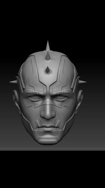 Star wars Rebels Maul  custom head sculpt hasbro black series