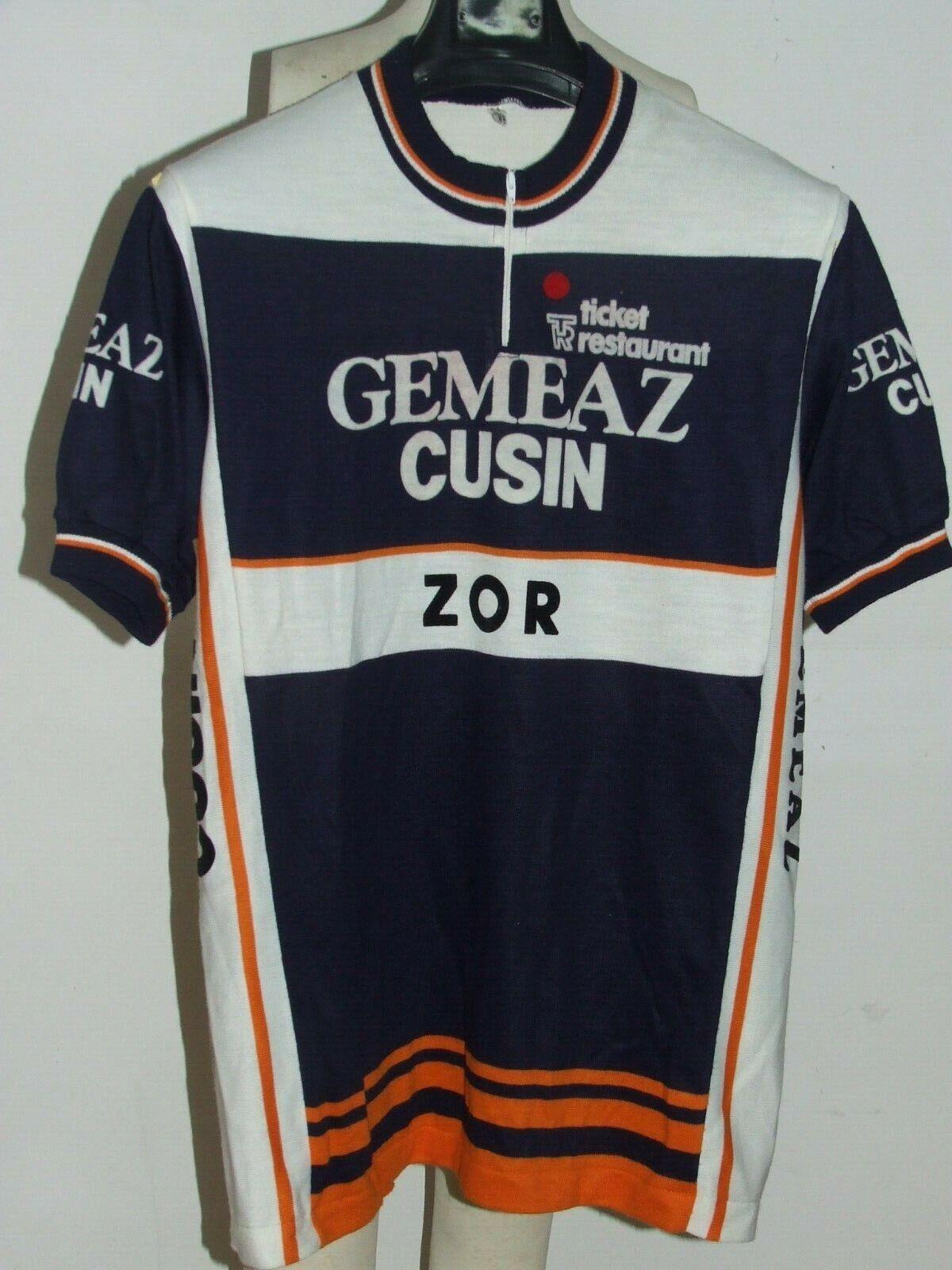 Maillot Vélo Haut Cyclisme Eroica Vintage 70'S Gemeaz Cusin Zor Acrylique