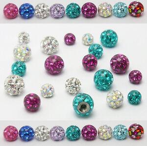 Dynamisch Piercing Kugel Schraub Ersatzkugel Ball Multi Kristall Gel Epoxy Ferido Zirkonia