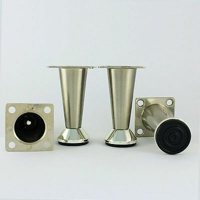 """metal table legs furniture cabinet stand stainless steel feet 3"""""""