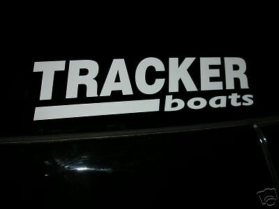 """TRACKER BOATS 20/"""" X 5/"""" Sticker White Bass Boat Fish You get 2 Decal"""