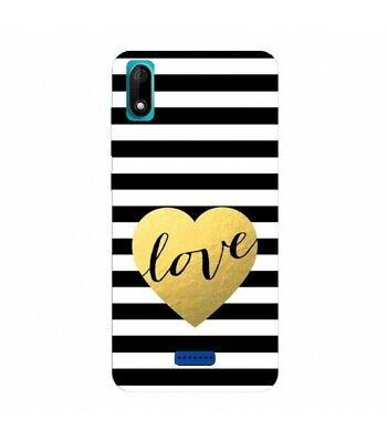 Coque WIKO Y60 raye love noir blanc or | eBay
