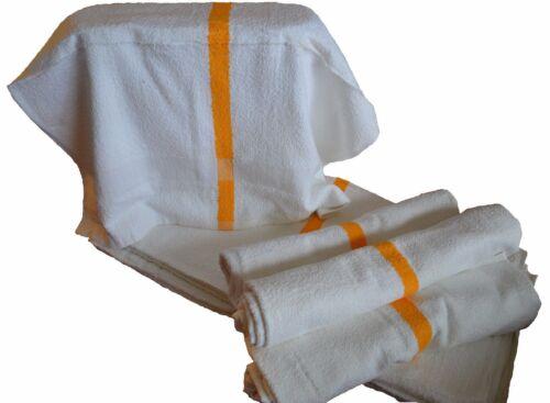 1 dozen new 12 22x44 gold stripe bath towels 6# per dozen economy grade