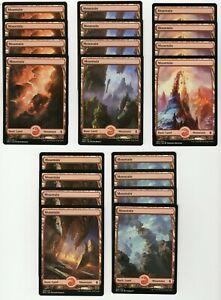 20x MOUNTAIN Full Art Basic Land NM/LP MTG Magic the Gathering Battle Zendikar