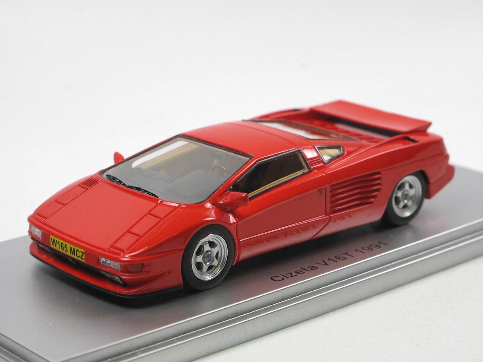 Kess scale models ke43048000 1991 Cizeta v16t rosso 1 43 Limited Edition novedad
