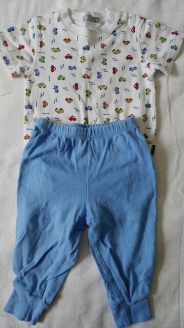 Carter's Boys Cars Top Blue Pants Outfit Size 12 Months