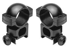 "Tall Height 1"" Black Scope Rings Fits Spyder MR5 HAMMER BT TM15 Elite Markers"