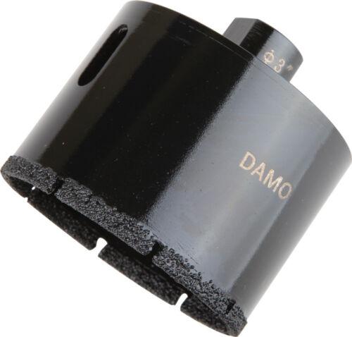 """DAMO 3/"""" Dry//Wet DIAMOND CORE Drill Bit pour Béton//granit//marbre Trou Scie"""