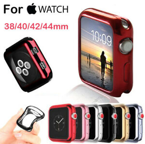 For-Apple-Watch-Series-4-3-2-1-iWatch-38-42-40-44-Soft-TPU-Plating-Bumper-Case