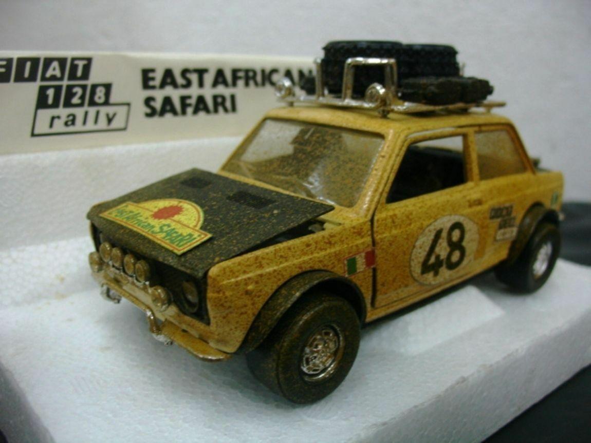 Wow extrêmement rare FIAT 128 RALLY S16 1.3 L EA Safari 1973 1 24 POLISTIL 1 25 125