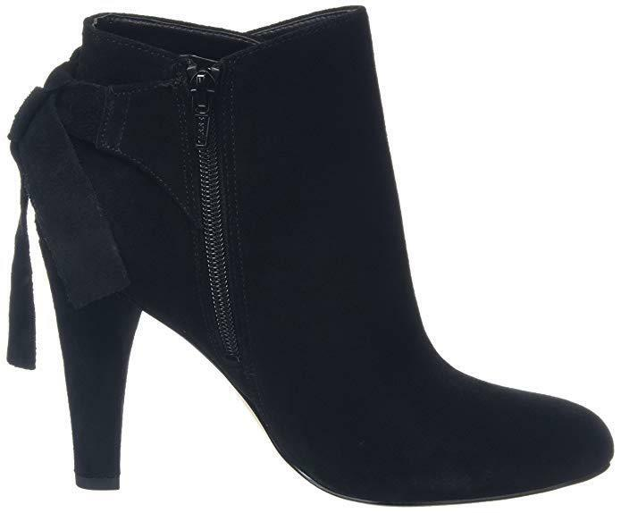 ALDO SIZE 3 HEEL HUFFINGTON BLACK REAL SUEDE LEATHER HIGH HEEL 3 ANKLE Stiefel 40086e