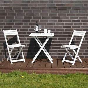 balkonset 3tlg bistroset gartenm bel sitzgruppe terassenm bel tisch und 2 st hle ebay. Black Bedroom Furniture Sets. Home Design Ideas