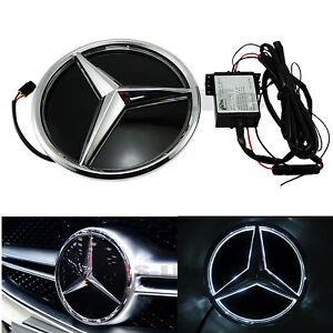 Illuminated car led grille blled logo emblem light for for Mercedes benz emblem light