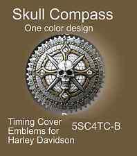 Harley Timing Points Cover, Helmet,Saddlebag Badge Skull Compass Zambini Bros
