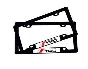 Exceptional Image Is Loading 2pcs TRD Car Emblem ABS License Plate Tag
