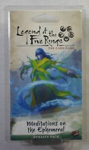 Legend of the Five Rings L5R Dynasty Pack All and Nothing  NEW /& SEALED