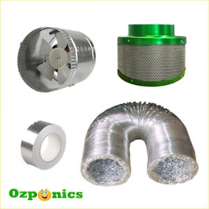 HYDROPONICS-4-INCH-EXHAUST-FAN-DUCTING-FILTAROO-FILTER-TAPE-Ventilation-Kit