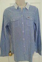 Hollister By Abercrombie Women Stripe Button-down Shirt, Size Medium