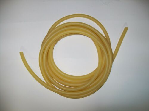"""1//2/"""" I.D x 1//8 Wall x  3//4/"""" O.D Latex Amber Rubber Tubing By The Foot Surgical"""